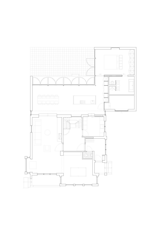 plattegrond verbouwing villa in Nieuwerkerk aan den IJssel