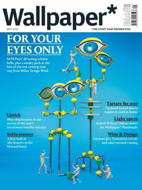publicatie wijn aan de kade in Wallpaper magazine